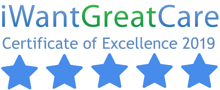 I want great care certificate of excellence 2019